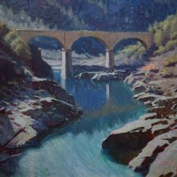 A Quarry Bridge in the American River Canyon, CA