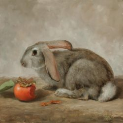 West, Mary_Rabbit with Persimmon